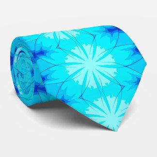 Cravate bleue fraîche superbe d'abrégé sur glace