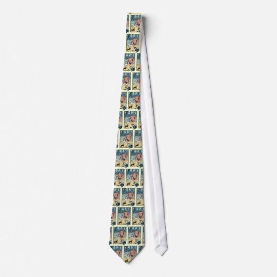 Cravate Caractères vintages de magicien d'Oz, route jaune
