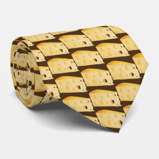 Cravate de nourriture de motif de fromage