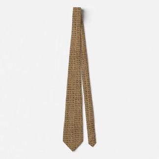 Cravate d'impression de toile de jute