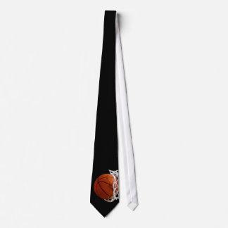Cravate noir et blanc de basket-ball