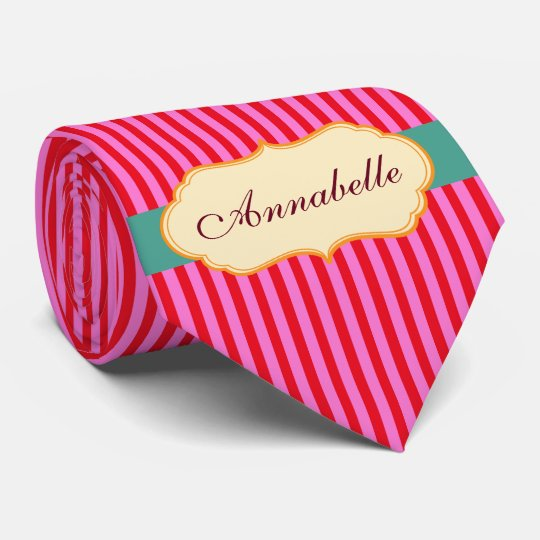 Cravate Personnalisez le motif turquoise de rayures de