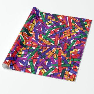 Crayons Kids Birthday Crayon Wrap Geschenkpapier