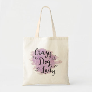 Crazy Dog Lady (Purple) Tragetasche