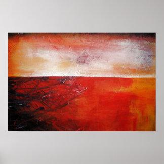 Créatif moderne de toile de rouge d'impression abs poster