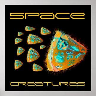 Créatures surréalistes de l'espace de Sci fi Posters