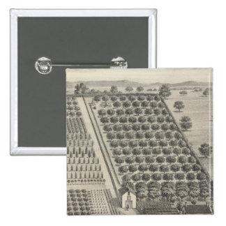 Crèche de carte, région boisée badge carré 5 cm