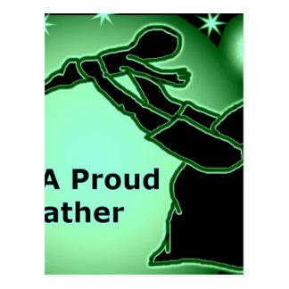 Credle Apparell Vatertags-Einzelteile Postkarte