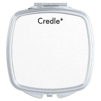 Credle quadratischer kompakter Spiegel Taschenspiegel