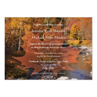 Creekside Holz-Ahornblatt-Herbsthochzeit 12,7 X 17,8 Cm Einladungskarte