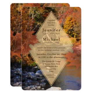 Creekside Holzahorn verlässt Herbsthochzeit 12,7 X 17,8 Cm Einladungskarte