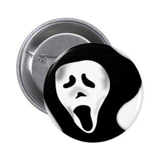 Creepy beängstigendes schreiendes gespenstisches G Runder Button 5,7 Cm
