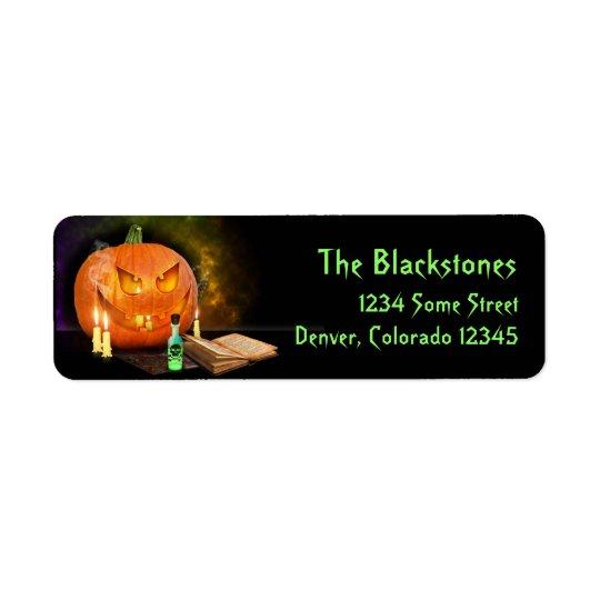 Creepy Halloween-Rücksendeadressen-Aufkleber Rücksendeetiketten