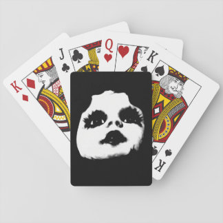 Creepy Puppen-Gesicht COOL Spielkarten