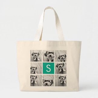 Créez votre propre monogramme de coutume de sac en toile jumbo