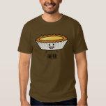 Crème anglaise heureuse de tarte d'oeufs t-shirts