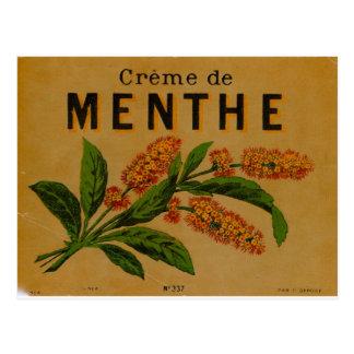 Creme de Menthe Postkarte
