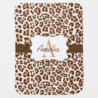 Creme Leopard-Druck-Browns TAN Swaddle Decke