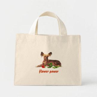 crêté chinois, flower power sac fourre-tout