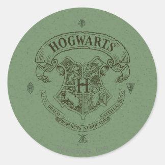 Crête de bannière de Harry Potter   Hogwarts Sticker Rond