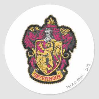 Crête de Gryffindor Sticker Rond