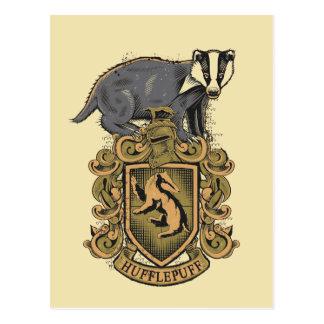 Crête de Harry Potter   Hufflepuff avec le Carte Postale