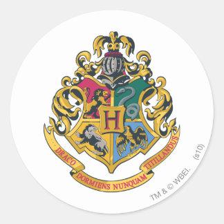 Crête de Hogwarts polychrome Autocollant Rond