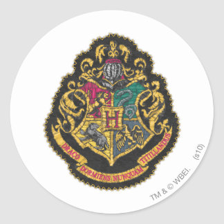 Crête de Hogwarts Sticker Rond