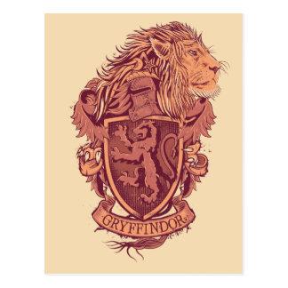 Crête de lion de Harry Potter   Gryffindor Carte Postale