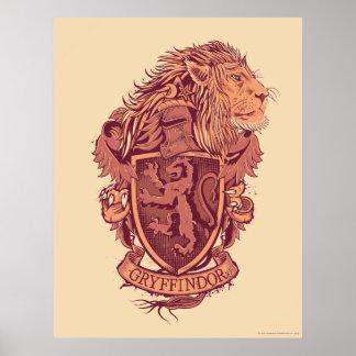 Crête de lion de Harry Potter   Gryffindor Poster