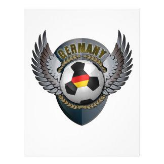 Crête du football de l'Allemagne Prospectus 21,6 Cm X 24,94 Cm