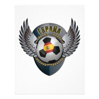 Crête du football de l'Espagne Prospectus 21,6 Cm X 24,94 Cm