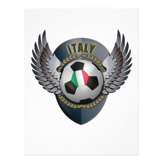 Crête du football de l'Italie Prospectus 21,6 Cm X 24,94 Cm