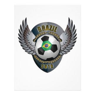 Crête du football du Brésil Prospectus 21,6 Cm X 24,94 Cm