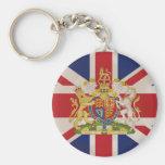 Crête royale sur le drapeau d'Union Jack Porte-clef