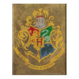 Crête rustique de Harry Potter   Hogwarts Carte Postale