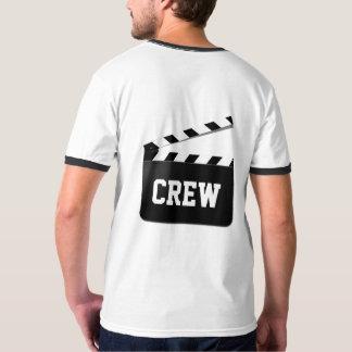 Crew-Typografie Schwarz-weißes Clapperboard T-Shirt