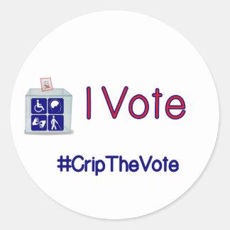 #CripTheVote I ABSTIMMUNGS-Aufkleber (rund) klein Runder Aufkleber