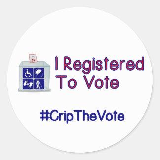 #CripTheVote I REGISTRIERTE Aufkleber (rund) groß
