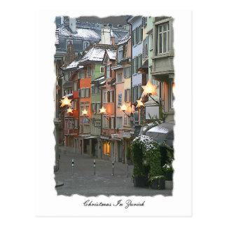 Cristmas dans la vieille ville carte postale