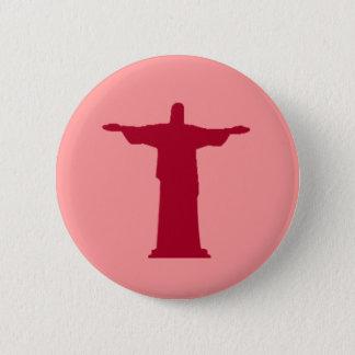 Cristo Redentor ~ Rio de Janeiro. Brasilien Runder Button 5,1 Cm