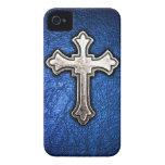 Croix bleue coques Case-Mate iPhone 4