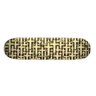 Croix d'or skateboards personnalisés