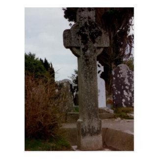Croix en pierre, Glendalough, Wicklow, Irlande Carte Postale