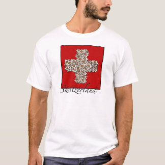 Croix suisse d'edelweiss t-shirt