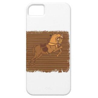 Croquis ESPIÈGLE de CHEVAL de Brown Coque iPhone 5