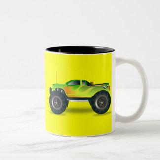 cross-42563 kreuzen, Auto, Cartoon, LKW, Sport, PU Zweifarbige Tasse