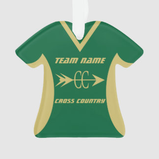 Cross Country-Gold trägt Jersey zur Schau Ornament