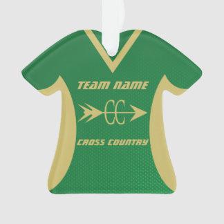 Cross Country-Grün-und Goldsport Jersey Ornament