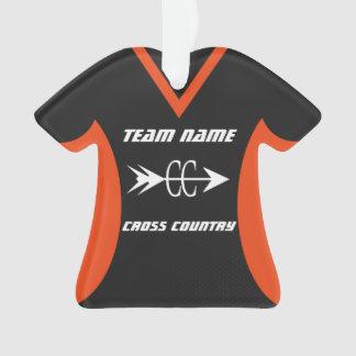 Cross Country-orange Schwarzes trägt Jersey zur Ornament
